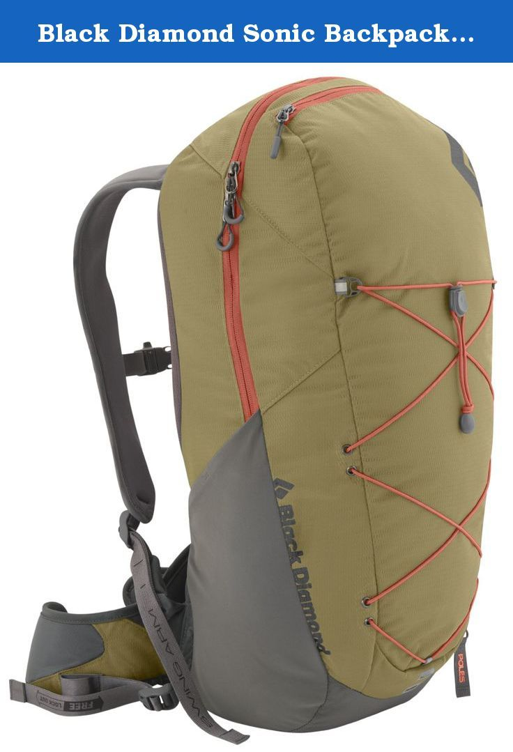 Black Diamond Sonic Backpack, Sand, Medium. From rolling forest trails to exposed ridge scrambles, the Black Diamond Sonic Pack is a streamlined, mid-sized daypack ideal for any long, active day out. This high-performance pack features our ergoACTIV suspension, which uses a custom 3D pivoting hip belt and our SwingArm shoulder straps for complete freedom of movement. The zippered panel lets you quickly get to your food and extra layers, while the hip belt and side stretch pockets and…
