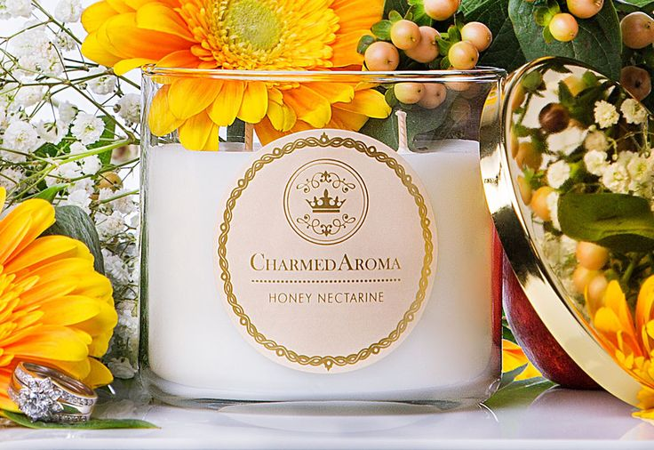 HONEY NECTARINE – Charmed Aroma: soy candle comes with a ring inside. Super gimmicky but apparently they smell great and I want one.