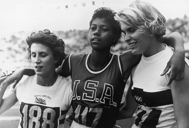 1960: Wilma Rudolph becomes the first woman in Olympic history to win 3 gold medals in a single Olympics.