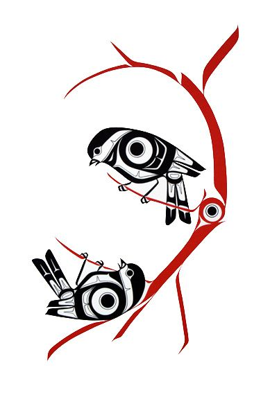 Chickadees-Prints - Glen Rabena, Northwest Coast Native Artist
