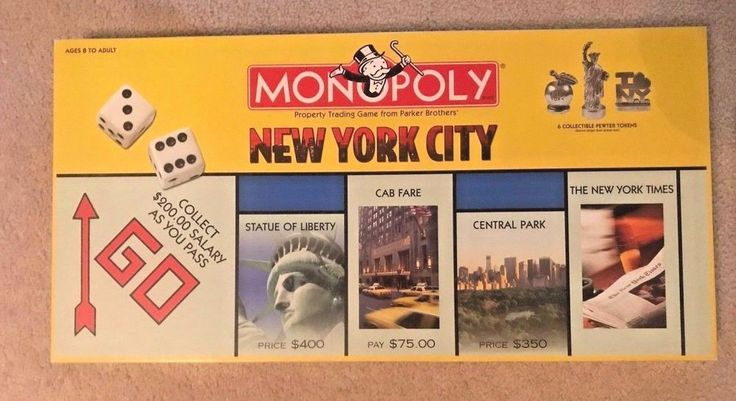 Monopoly New York City Edition Game World Trade Towers and Trump Towers 2001   Toys & Hobbies, Games, Board & Traditional Games   eBay!