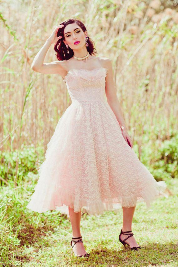 Vintage des années 1950 Pretty in Pink par AppleBranchesVintage
