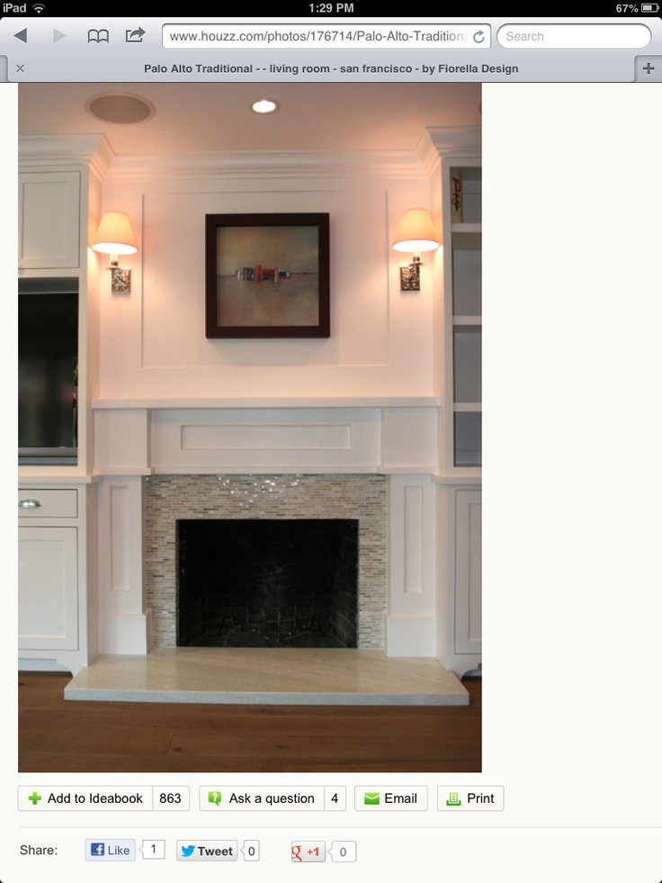 Ideas for refacing fireplace hearth | Fireplace ...