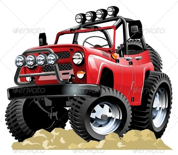 Vector Cartoon Jeep #GraphicRiver Available hi-res JPG , AI-CS4 and EPS -10 vecotr formats separated by groups and layers with transparency effects for one-click repaint. More cartoon cars and transportation illustrations see in my portfolio Also you can check at my Collections: Vector Cartoon Cars Vector Cartoon Trucks Detailed Vector Cars modern and retro Detailed Vector Trucks Vans Tractors and Pickups Detailed Vector realistic and cartoon styled Buses Vector aircrafts, airplanes, retro…