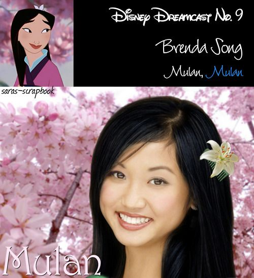 Disney Dreamcast No. 9 - Brenda Song as Mulan (made by me)