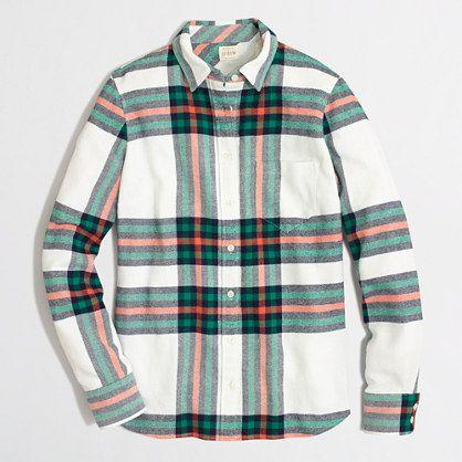 flannel plaid shirt (on major sale!)