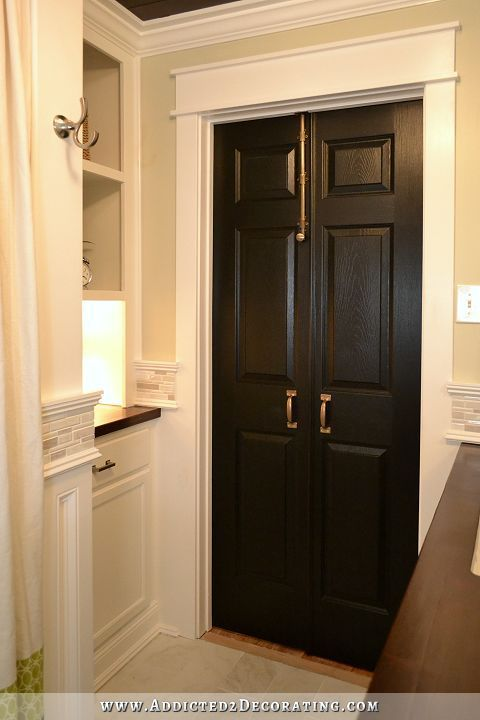 172 best images about white trim black doors on pinterest Double doors for master bedroom