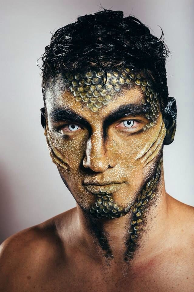 Merman - MU by special fx artist Chloë Köpping - products from MUD