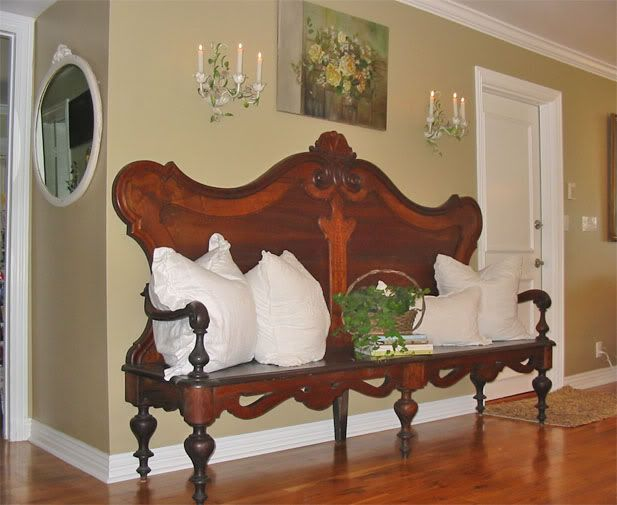 This Is A Great Idea Of Turning An Antique Headboard Into