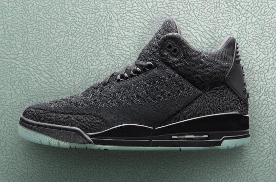 Release Date: Air Jordan 3 Flyknit Black | Air jordans, Air