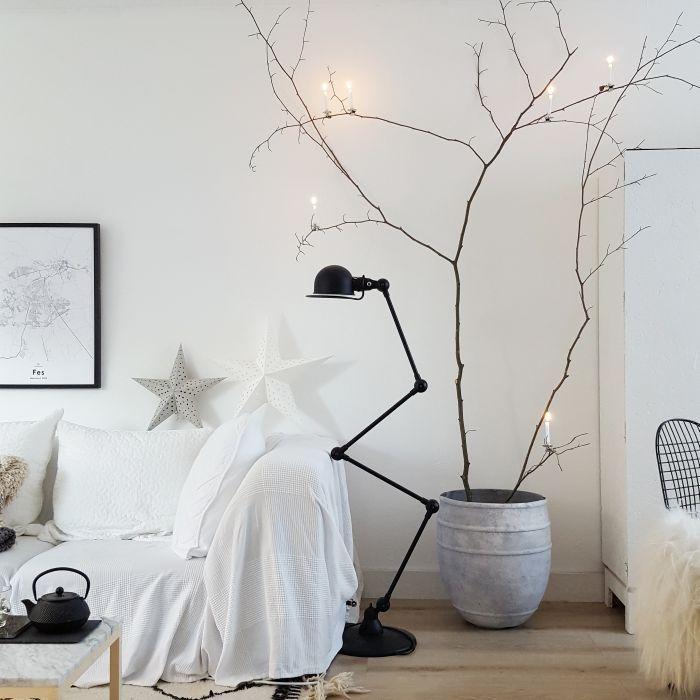Zwarte Jielde lamp met 4 armen