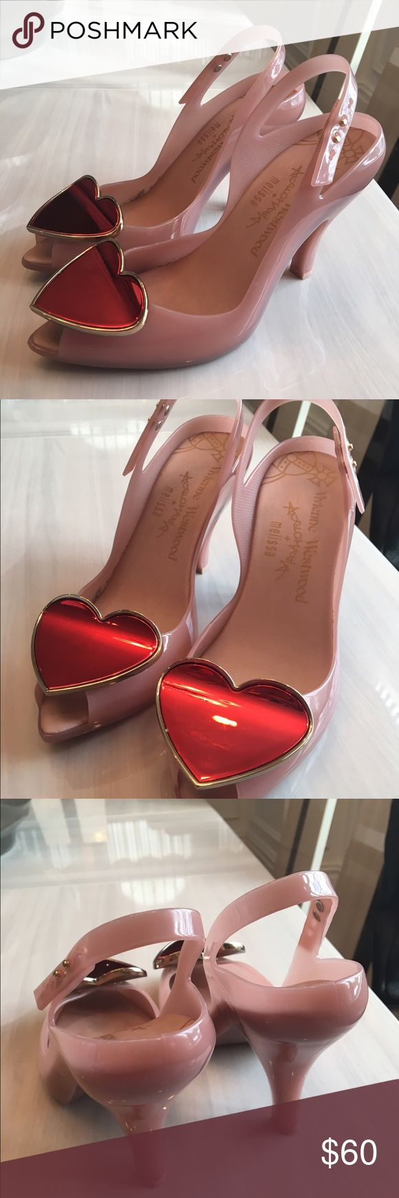 "Vivienne Westwood Anglomania Melissa Heel Pump Blush Pink PreOwned Heels. Synthetic sole. Very little sign of wear. Good condition.  Heel measures approximately 4"" Platform measures approximately 1"" Vivienne Westwood Shoes Heels"