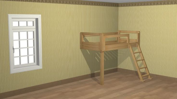 DIY loft bed, materials list and everything! love it!