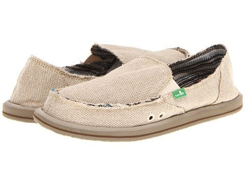 Step into the ultimate in comfortable slip ons in the Sanuk Donna slip on in hemp. With a cozy textile lining you'll appreciate the loose and easy feel of this shoe sitting on cozy sponge-y EVA insole
