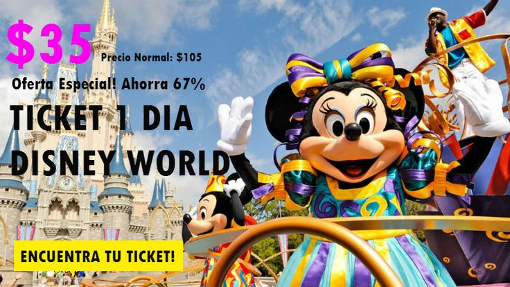 Tiquetes Disney World - Tiquetes Walt Disney World - Tiquetes Baratos Disney - Entradas Disney World - Pases a Disney World - Magic Your Way Park Hopper Tickets - Entradas Disney World Orlando