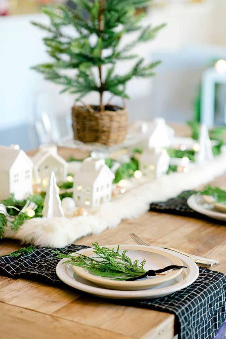 Modern Farmhouse Christmas Table Tips For Creating A Holiday Table Christmas Table Christmas Decor Diy Farmhouse Christmas