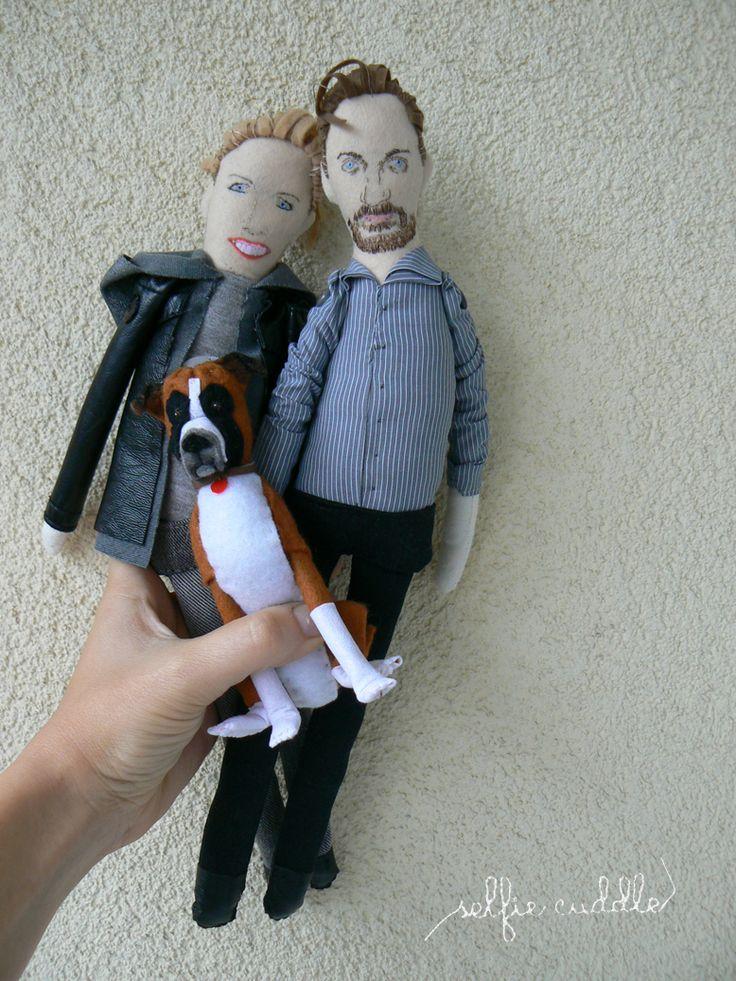 personalised handmade dolls, fabric dolls, family dolls, portrait