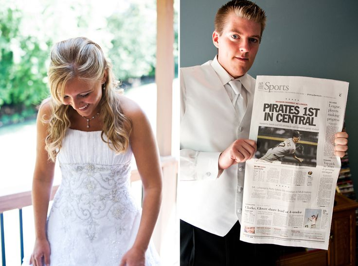 Get a newspaper on your wedding day. It will be a keepsake later, just like your parents probably saved a newspaper from the day you were born.