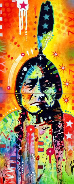 Sitting Bull by drussoart #art #nativeamerican #color