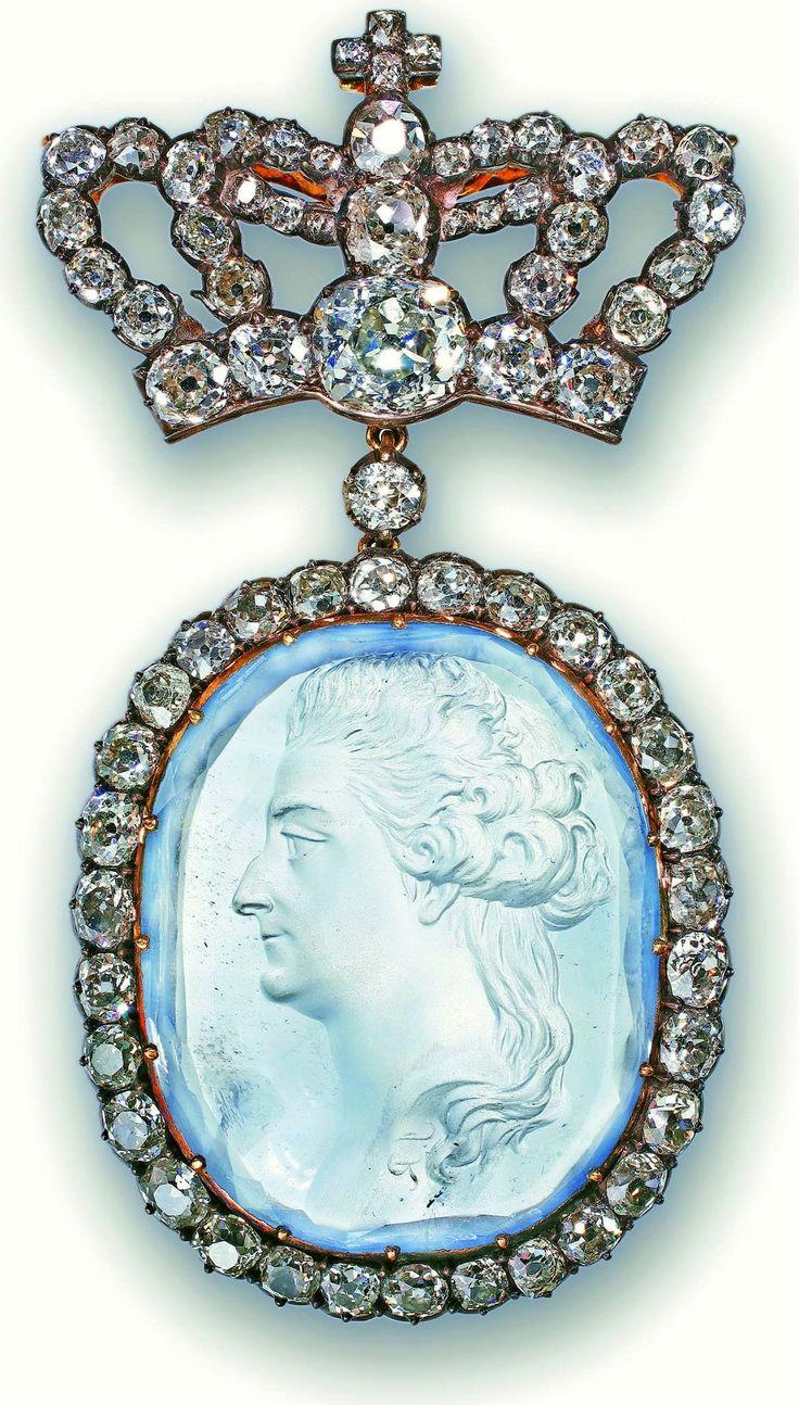Jewel with a portrait of Stanislaus Augustus by Jan Regulski (intaglio) and Jean Martin (setting), 1786/1787, Zamek Królewski w Warszawie (ZKW)