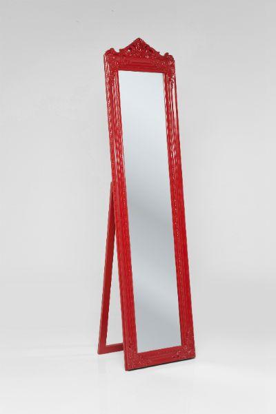Καθρέφτης δαπέδου Baroque Red Εντυπωσιακός καθρέφτης δαπέδου, με πλούσιο διάκοσμο στην κορνίζα σε μπαρόκ στυλ, από ξύλο paulownia σε κόκκινο χρώμα.