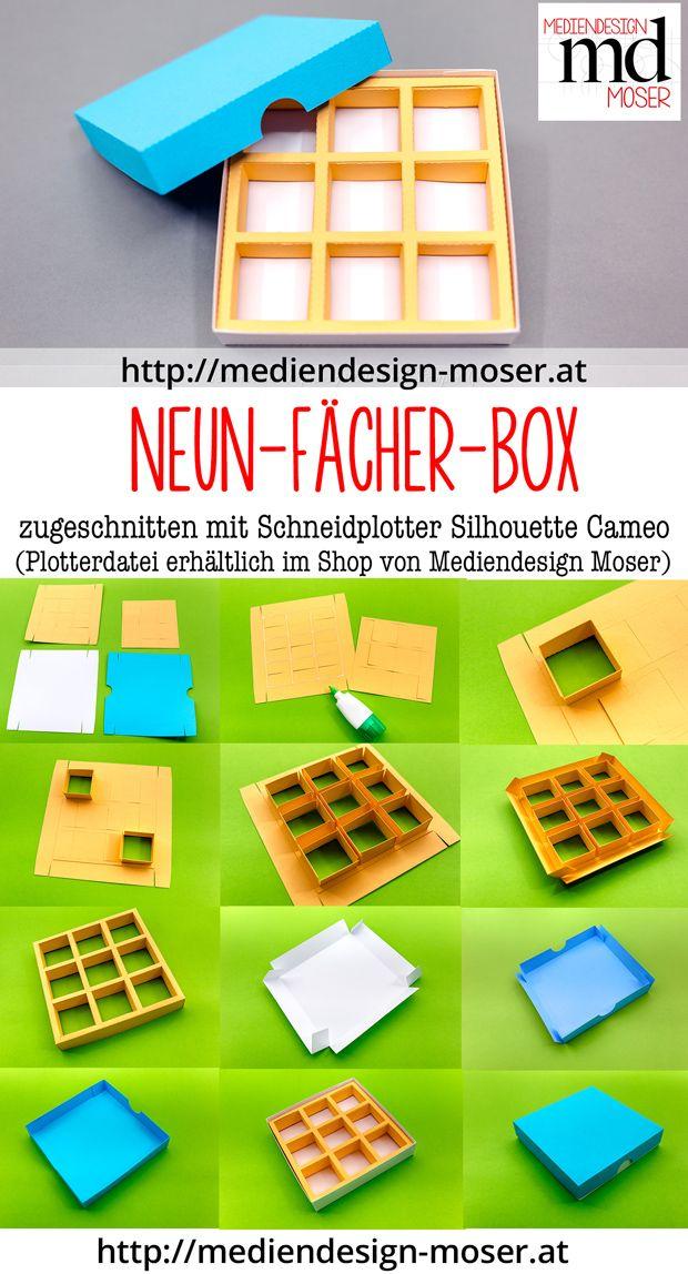 Download Schneidplotter Datei Neun Fächer Box Box Box
