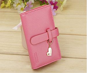 Solid Trunk Shaped PU Leather Wallets with Hasp Closure