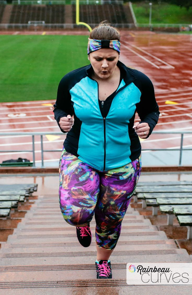Stay motivated and stay active while still looking hot! Now you can wear plus-size clothes that are both cute and comfortable. Start shopping for athletic leggings, reversible headbands and sports bras for big busts. Click to see more of our spring & summer collection! #RainbeauCurves