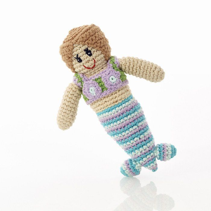 Pebble Mermaid Rattle Gorgeous mermaid baby rattle that makes a great new baby or shower gift idea. Pebble products are made entirely by hand with natural mate