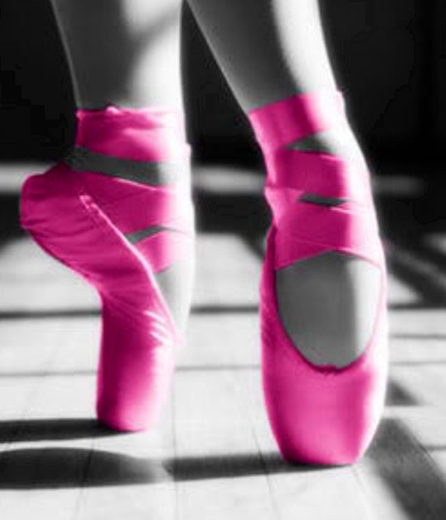 neon pink pointe shoes shoes pink