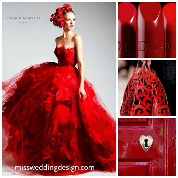 rosso, moda, dior