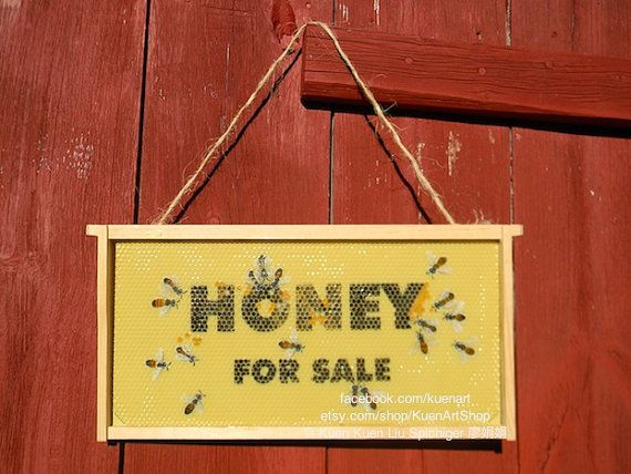 Honey For Sale Sign by KuenArtShop on Etsy