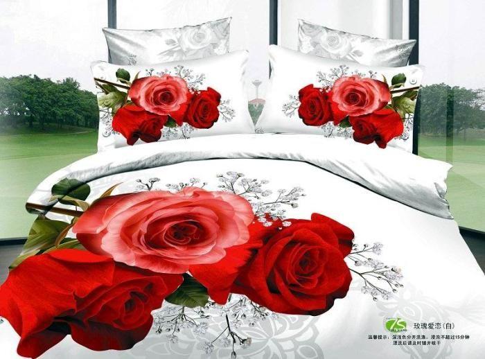 Cheap 3D Red rose floral del lecho queen size edredón funda de edredón bedin una bolsa dormitorio colcha hoja de ropa pintura al óleo de algodón, Compro Calidad Conjuntos de Ropa de Cama directamente de los surtidores de China:   Detalles del producto     Un sistema incluye 1 edredón/edredón, 1 sábana y 2 fundas.  Consolador.