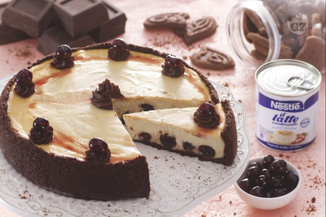 La cheesecake ricotta e amarene