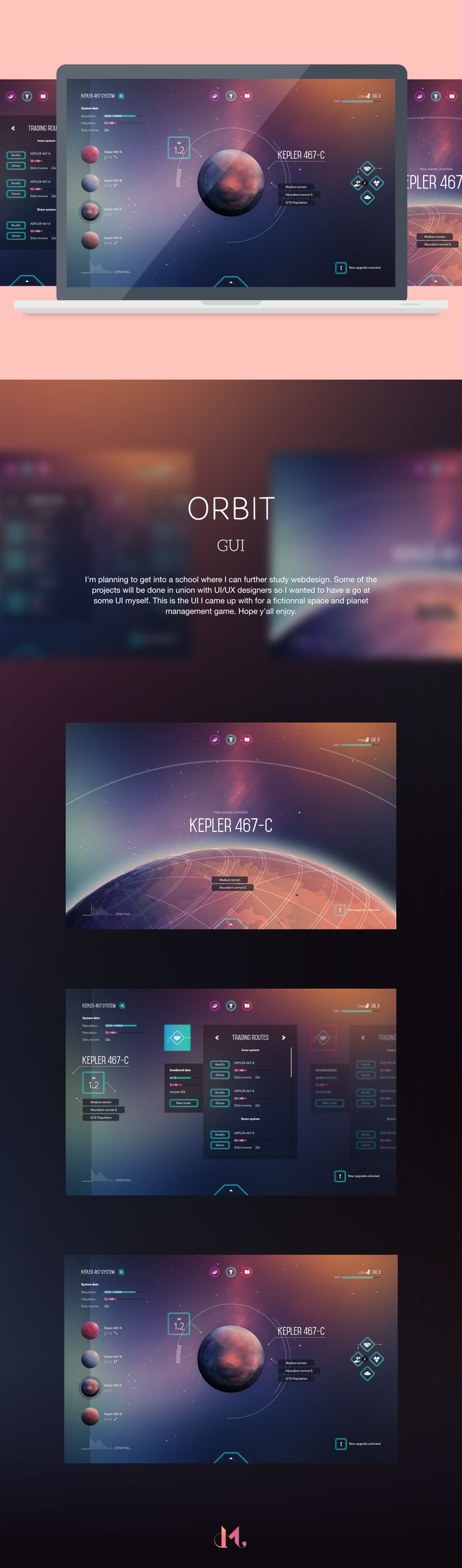 Orbit Space Game UI on Behance