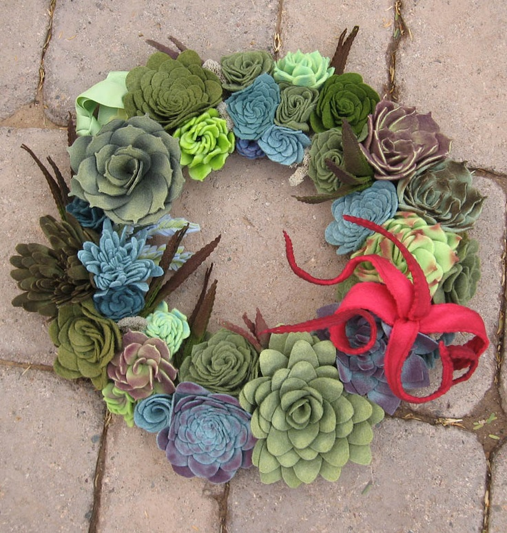 succulent felt! may be better for me because of my black thumb!