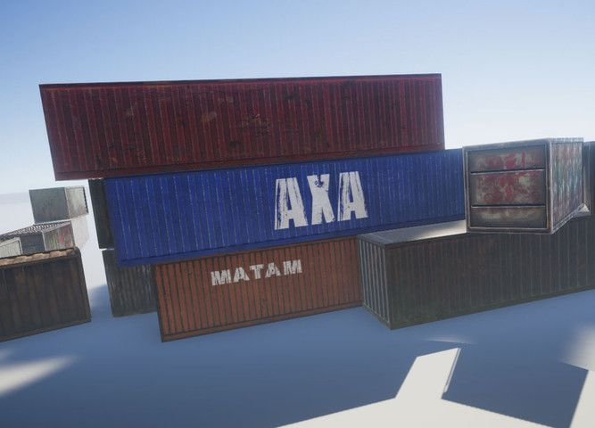 Containers1 Sponsored 3d Environments Asset Store 3d