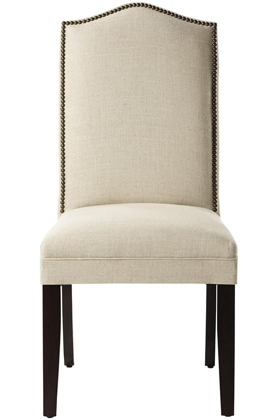 Camel-Back Parsons Chair with Nailhead Trim - Dining Chairs - Kitchen And Dining Room Furniture - Furniture | HomeDecorators.com