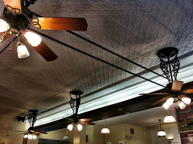 LOVE ceiling fans like this! (Belt driven ceiling fans)