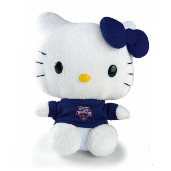 """UConn Huskies 2014 NCAA Men's Basketball National Champions 6"""" Hello Kitty Plush Toy"""