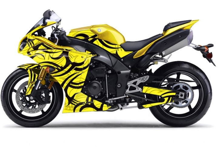 Yamaha R1 2010 - 2012 Street Bike Graphics - Tribe - Yellow Sport Bike Graphic Decal Kit - In Stock Now - AMR Racing's Premium Graphics are produced to order and may take up to 5 business days to manufacture. All graphics are digitally printed with UV resistant inks that are guaranteed not to fade up to 5 years. These are not your typical 3-4 color Silk-Screened graphics. New digital technology produces extremely Vivid and detailed images, up to 16.5 million colors!