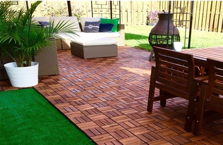 Six ikea hacks that will transform your yard backyard for Garden decking tiles homebase