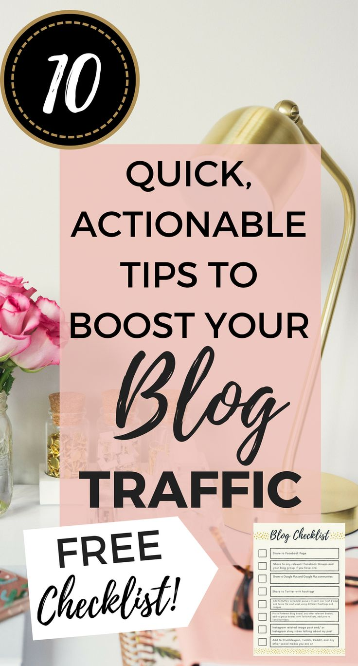 10 Quick Actionable Tips to Boost Your Blog Traffic Today - Midwife and Life