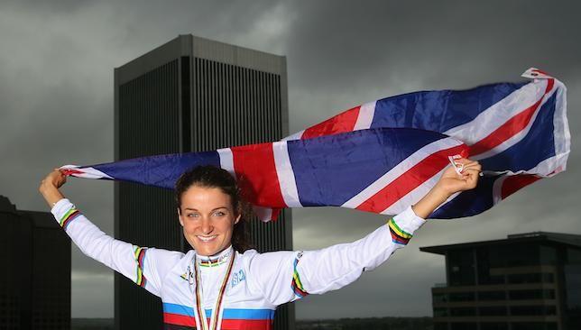 Great Britain's Lizzie Armitstead wins road world title in Richmond #MeganGuarnier