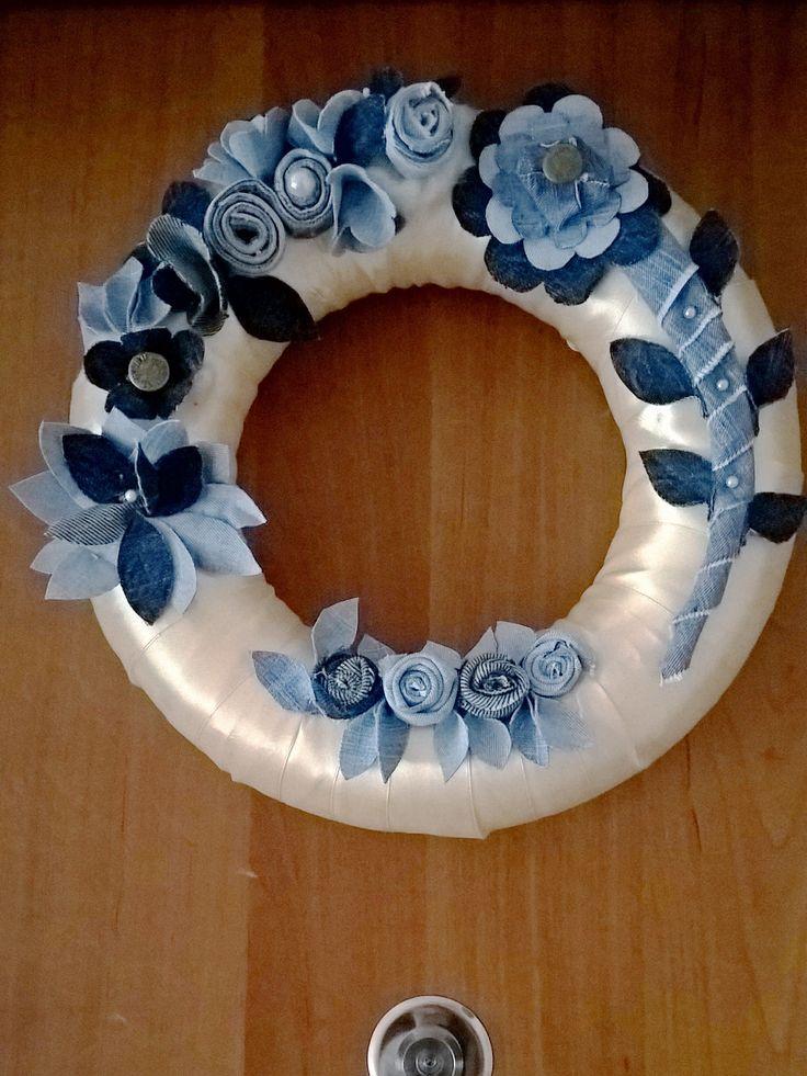 Jeans wreath