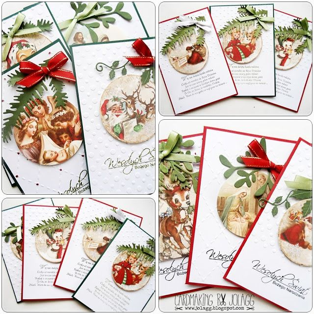 Cardmaking by jolagg: Kartki bożonarodzeniowe na kiermasz szkolny