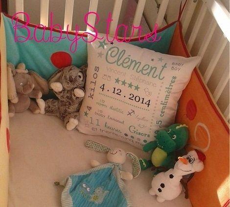 Un super souvenir de naissance avec le coussin BabyStars - Le blog de Testing-Girl