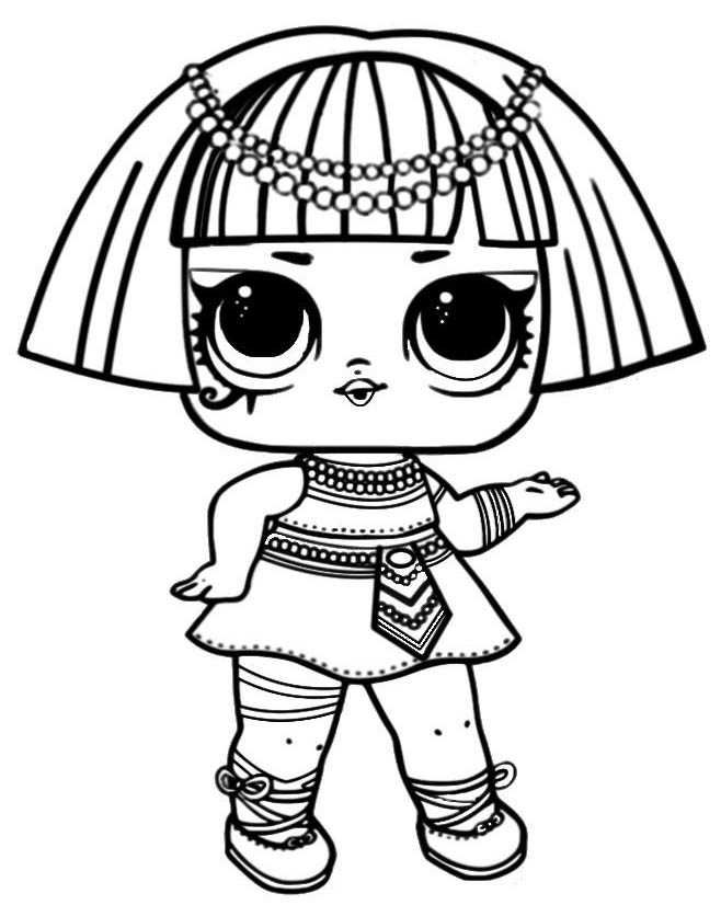 Printable LOL Doll Coloring Pages Coloring pages for