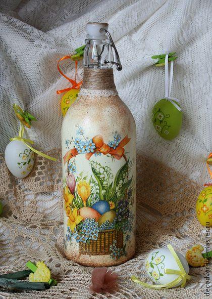 """Бутылка для святой воды """"Радость"""" - Пасха,пасхальный сувенир,бутылка,подарок на Пасху"""