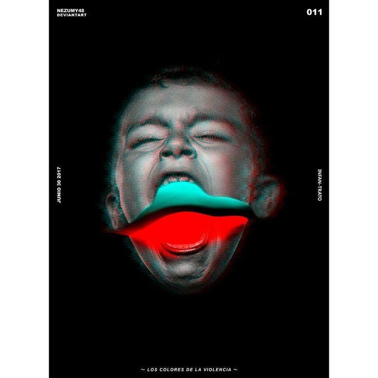 -INFAN/TRATO- Los colores de la violencia  Nuevo post espero les guste y me puedan seguir @nezumy_48 #infantrato #poster #designinspiration. #photoshop #perudesign #inspirationseed #composition #photo #photography #color #violence #illustration #postereveryday #011 #creative #neon #arts #vision